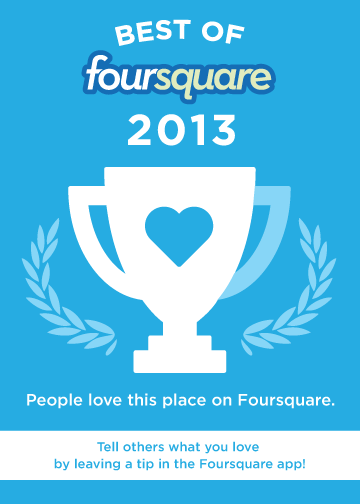 We're on the Best of Foursquare 2013 list. Check it out!