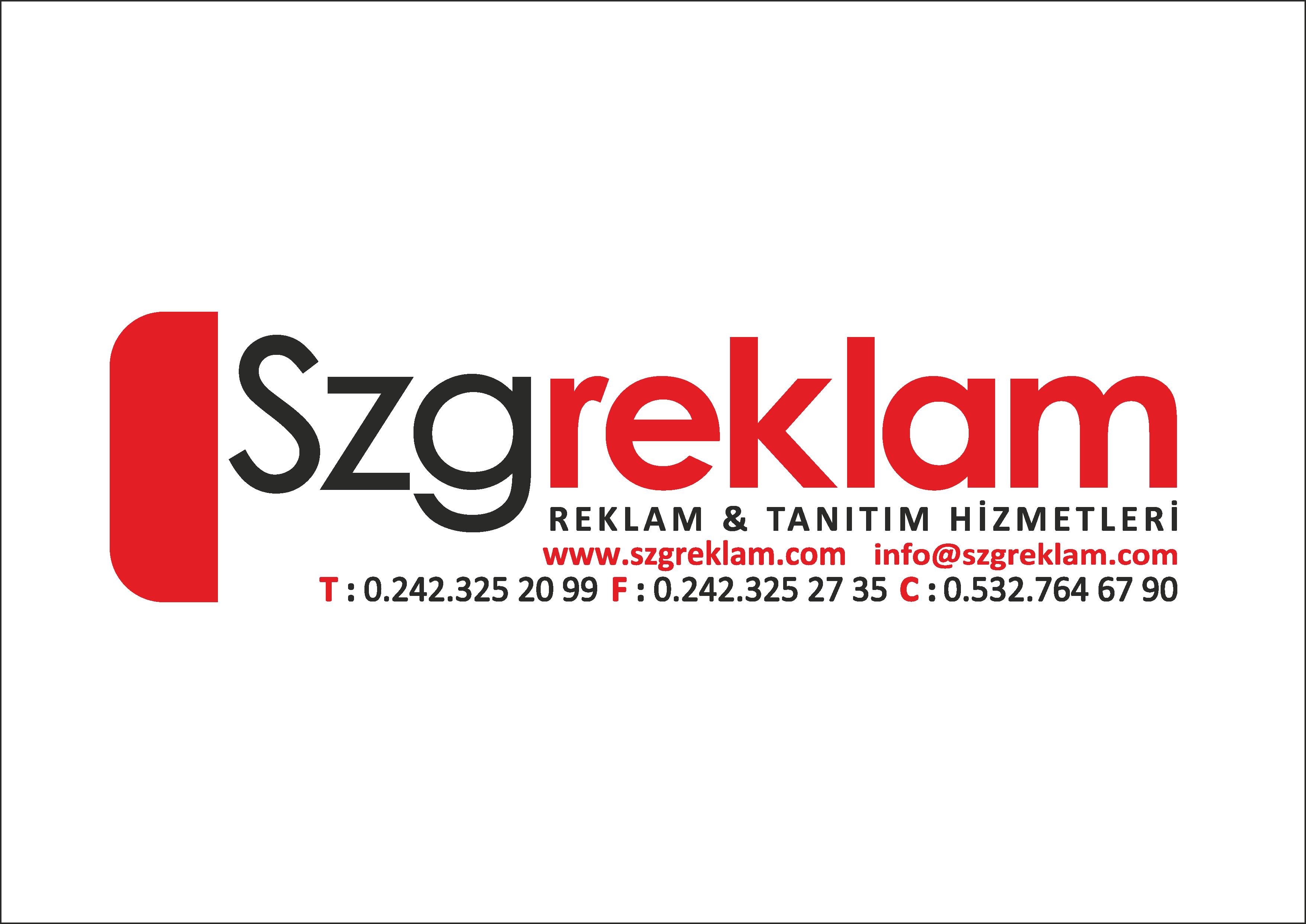 Szg Reklam Digital Baskı | Kızılarık Köroğlu Bulvari, 07300 Muratpaşa/Antalya | +90 242 325 20 99
