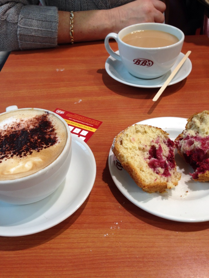 BBs Coffee & Muffins   Mahon Point Shopping Centre, Cork   +353 21 435 9063