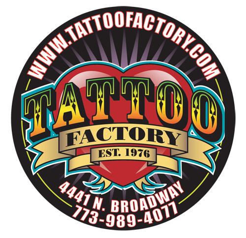 Tattoo-Factory C. Chicago, IL. DAYS OUT 0; CHECK-INS0; THINGS DONE 3