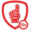 ESPN Foam Finger Badge