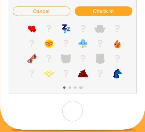 Express yourself and unlock stickers based on where you go in the real world.