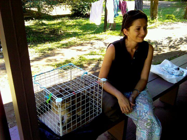 Anna all'SPCA Nadi con Ska